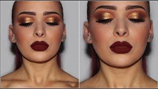 Gold Smokey Eye | Drugstore/Affordable Makeup Tutorial