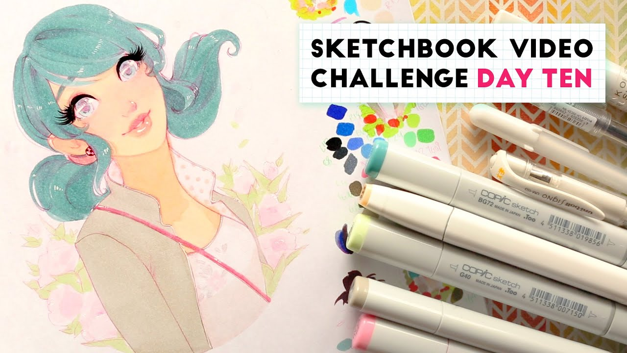 miraculous ladybug marinette sketchbook video challenge