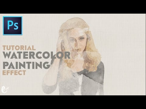 How to Make a Landscape Watercolor Painting Effect in Photoshop – Tutorial Photoshop