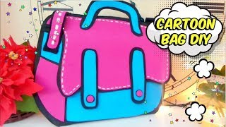 DIY EASY CRAFTS FOR GIRLS. FUNNY GIRLY CARTOON BAG