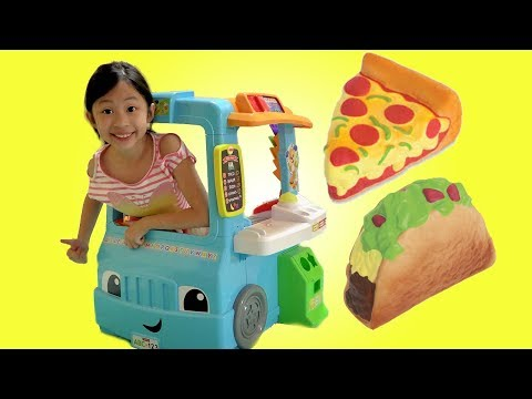 Chloe Pretend Play with Fun Food Truck Toy Fun TV