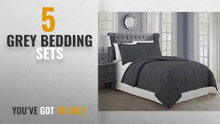 Top 10 Grey Bedding Sets [2018]: Mk Collection Down Alternative Comforter Set 3pc Full/queen Solid