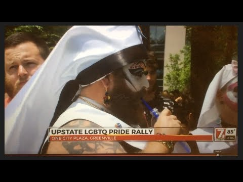 WSPA Channel 7 Coverage of the Upstate LGBTQ Pride Month Rally