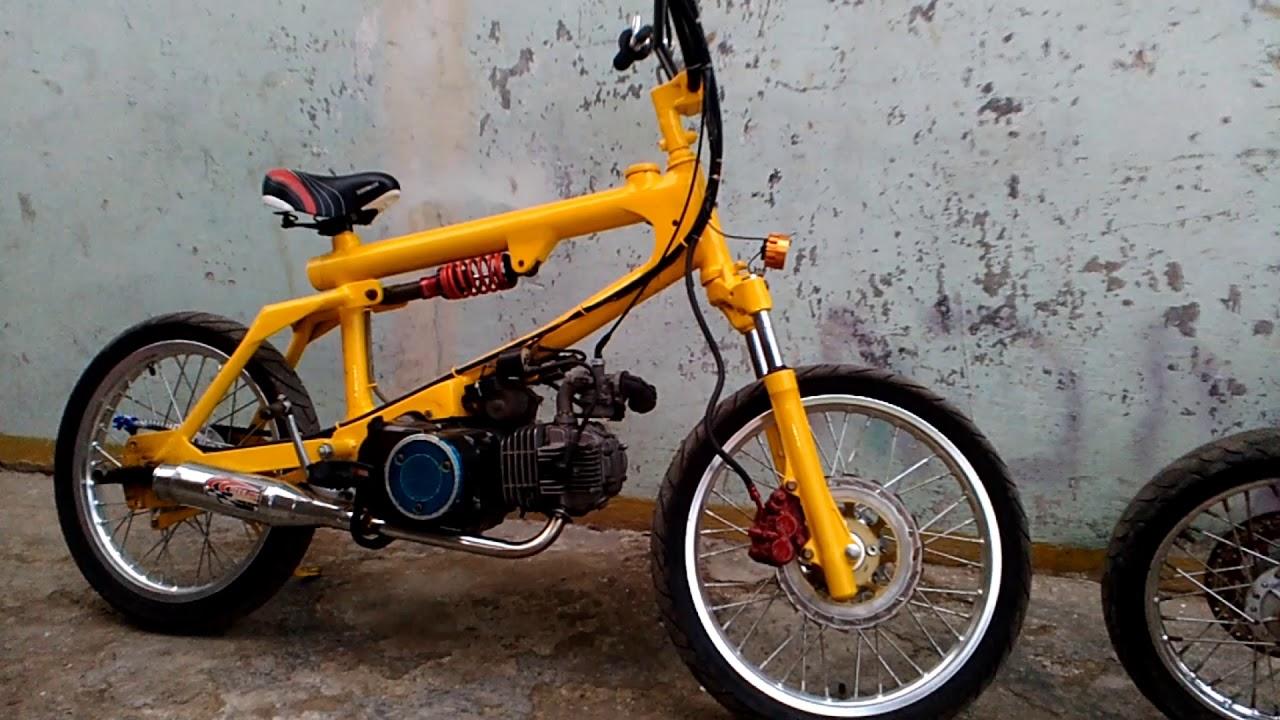 Modifikasi Motor Honda Supra X Jadi Sepeda Bmx Youtube