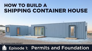 Download Building a Shipping Container Home | EP01Permits and Foundation Design Mp3 and Videos