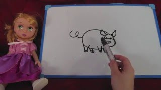Научиться рисовать видео урок рисования Рисуем поросенка Video Lesson Draw Draw easily pig