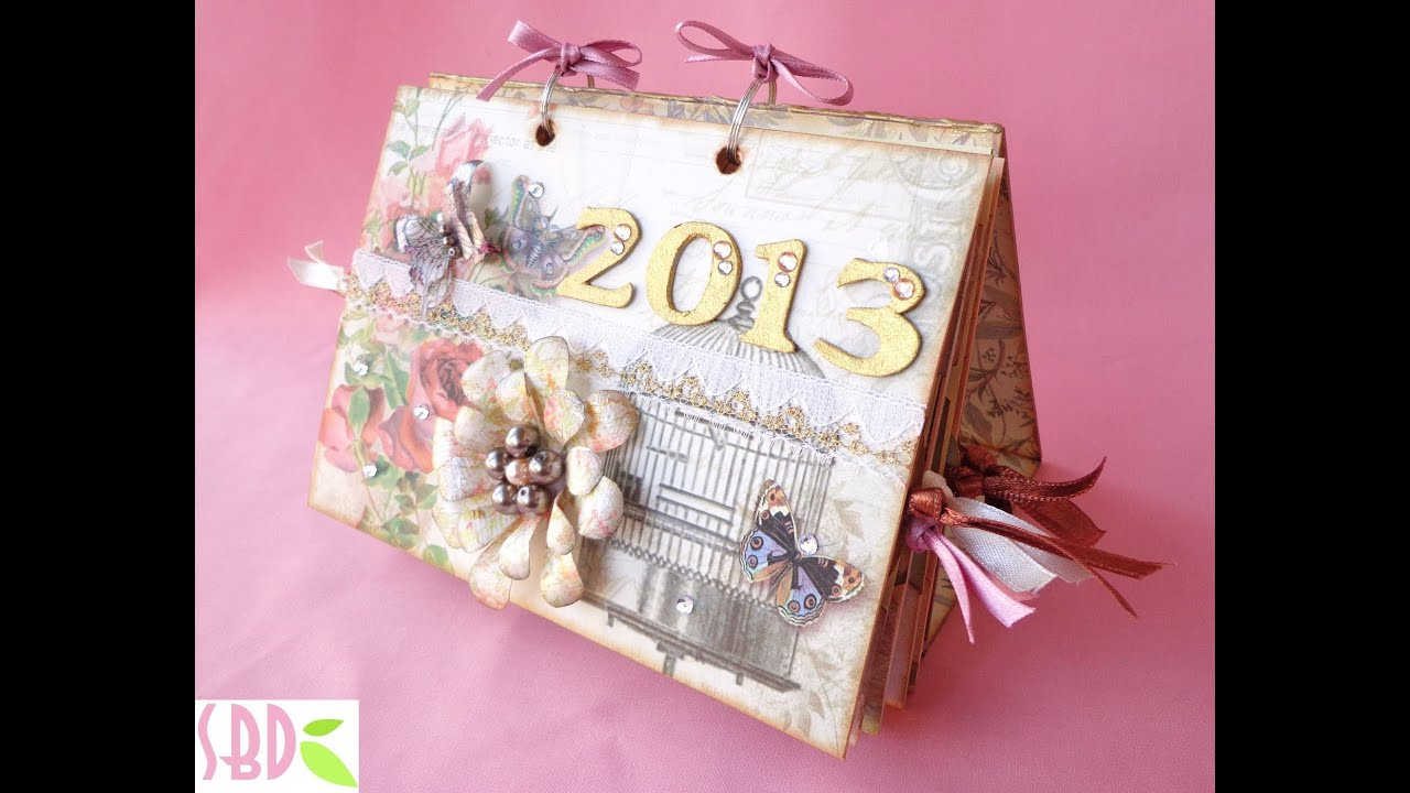 Materiale Per Shabby Chic.Calendario Da Tavolo Shabby Shabby Calendar Diy