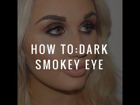 How to: Dark Smokey eye   Amy Tattersall