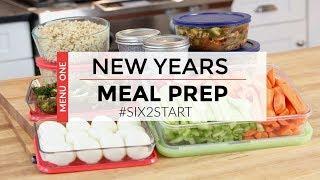 HEALTHY MEAL PREP | New Years Menu | #SIX2START