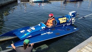 Antique Race Boat Regatta Clayton, NY Dennis Pt Menace 2014