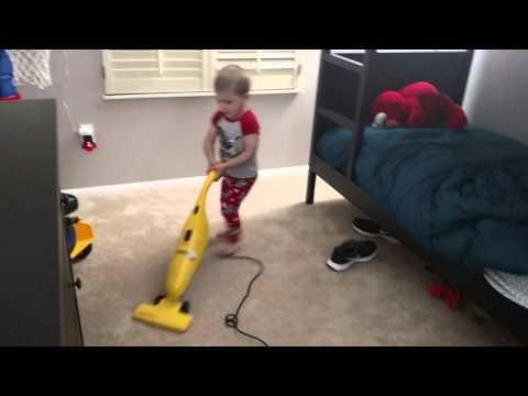 Teaching kids chores early...