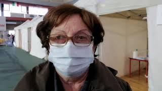 """Vaccinazione di massa, primo giorno a Vasto: """"Non vedo l'ora di abbracciare figli e nipoti"""""""