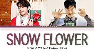 Download BTS V - 'Snow Flower' (feat. Peakboy) Lyrics (Color coded Han/Rom/Eng)