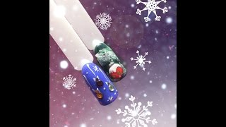 новогодний дизайн ногтей*новогодние игрушки*