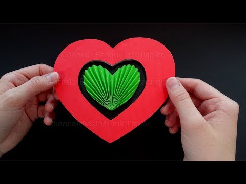 Pop Up Karten Basteln Mit Papier Herz Karte Selber Machen Diy