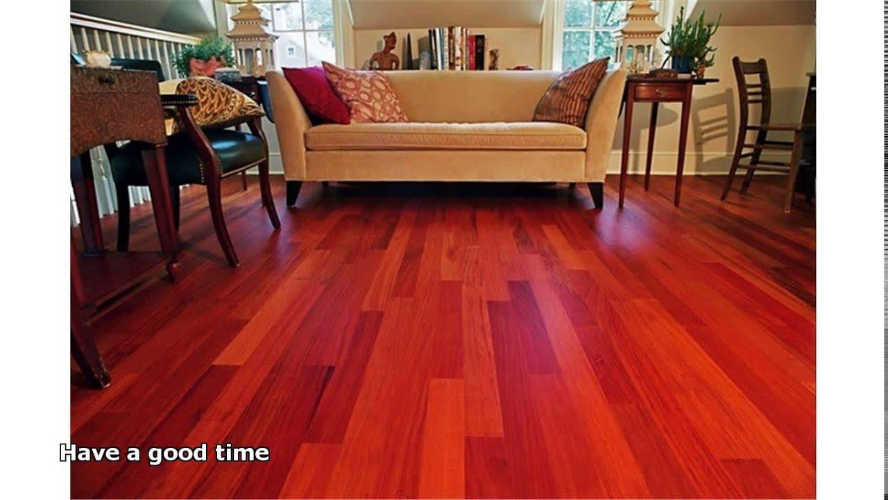 mahogany hardwood flooring - YouTube