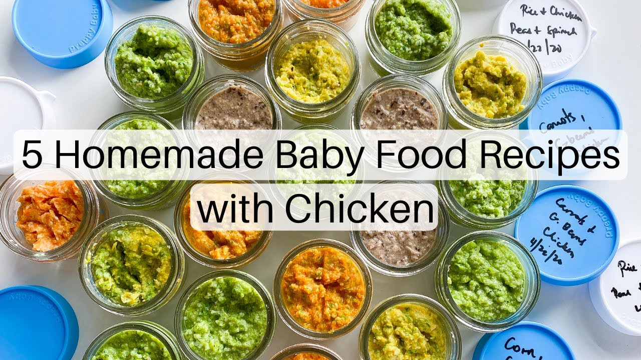 Homemade baby food with chicken   Baby food recipes for ...