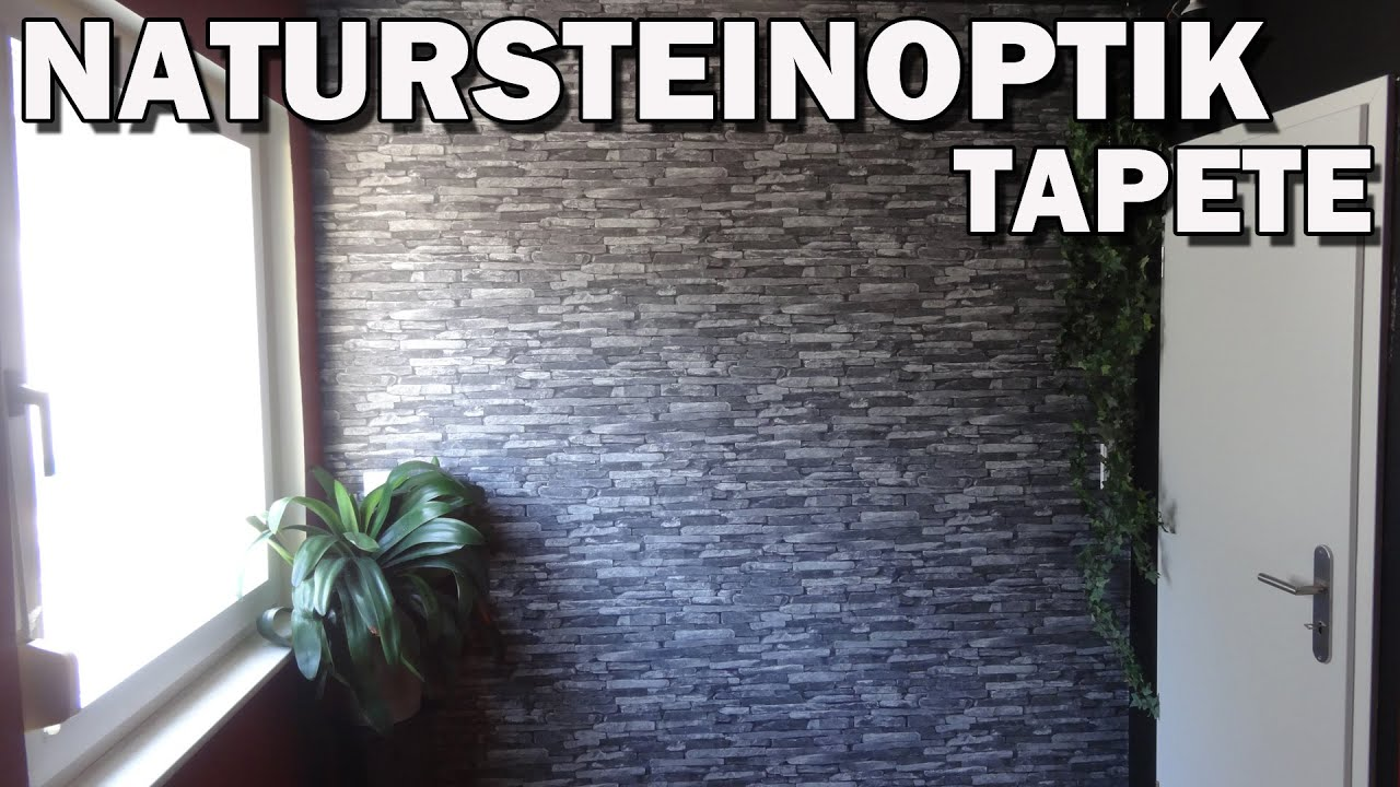 Natursteinoptik tapete wood n stone vorstellung youtube for Tapete natursteinoptik