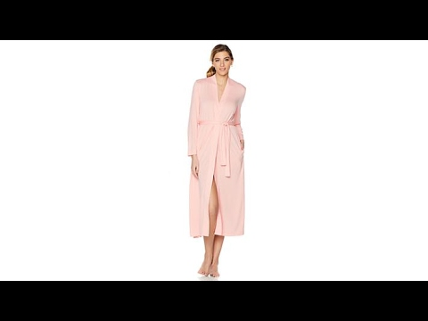 comfortably you Long Robe with Attached Self Tie Belt - YouTube