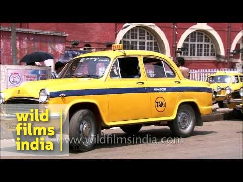 Iconic yellow taxi-cabs of Kolkata - Howrah