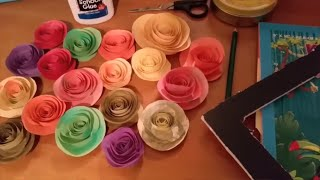 How to Make Paper Flower Wall Hanging | Living Room Decor | Paper Crafts | Wall Decoration Ideas