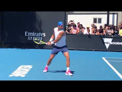 Rafael Nadal Practicing His Shots | Filmed From Two Angles