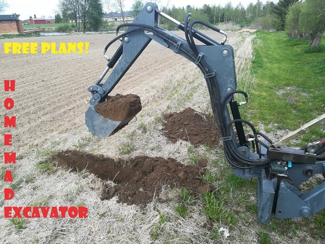 --DIY-- FREE plans for the excavator / backhoe project