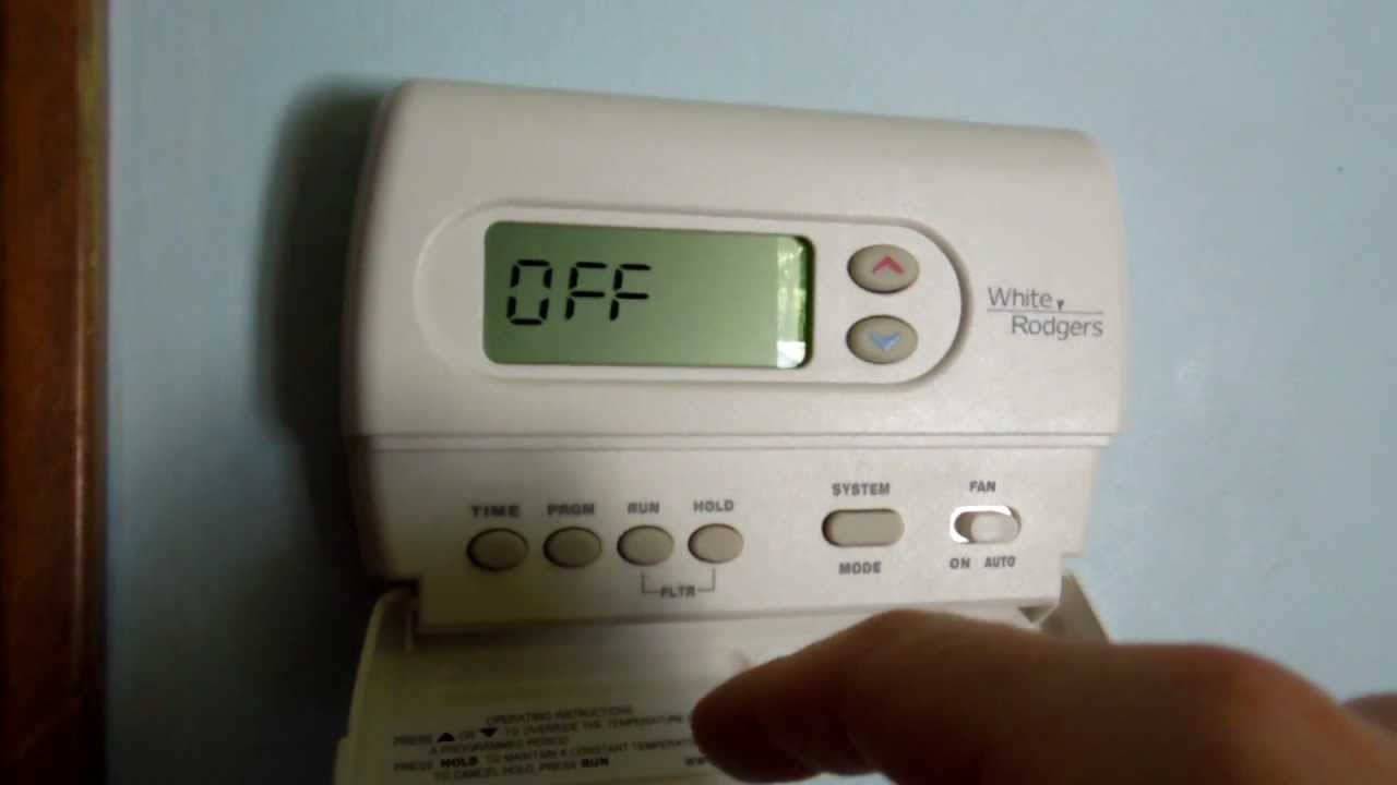 white rodgers 1f85 277 installation youtube rh youtube com white-rodgers thermostat troubleshooting 1f80-261 white rodgers thermostat manual model 1f80-261