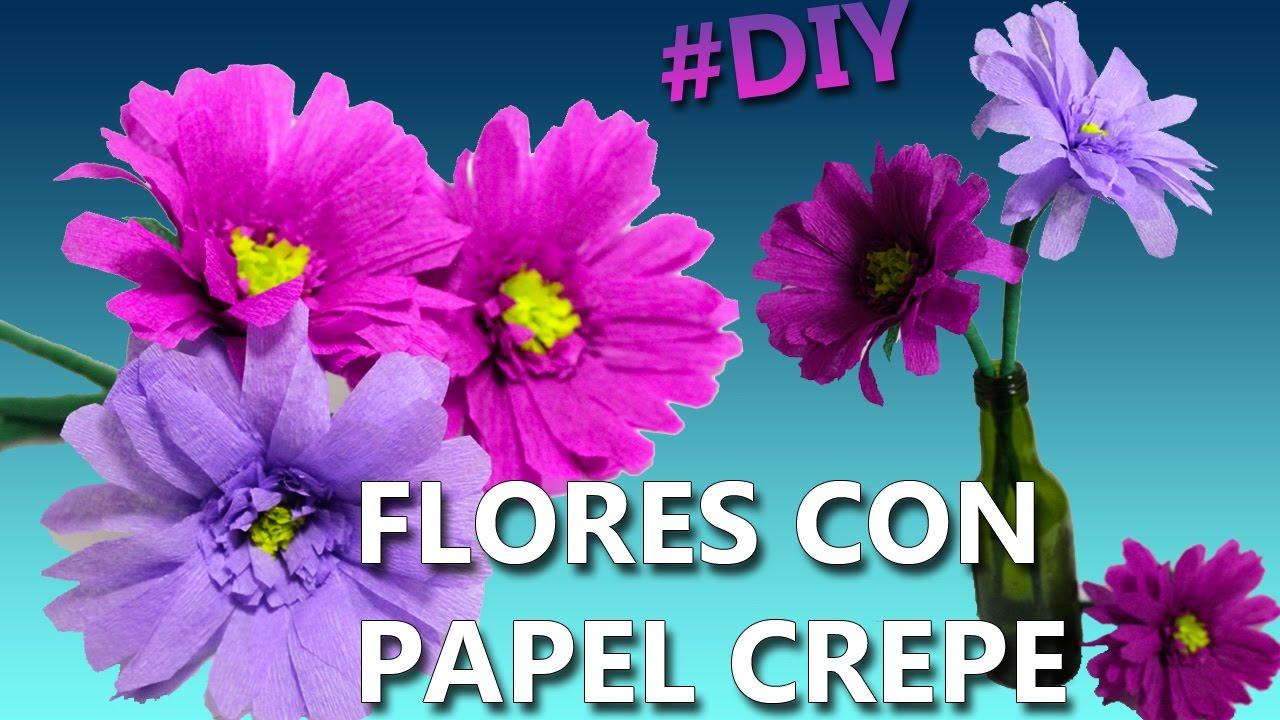 Como hacer flores con papel crepe manualidades faciles for Manualidades con papel crepe