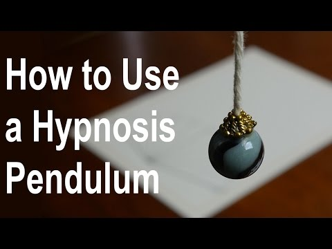 NLP: How to use a Hypnosis Pendulum to lose weight, quit cigarettes, marijuana, etc.