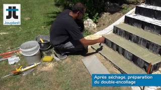 Escalier exterieur SANS coffrage ni béton Modulesca