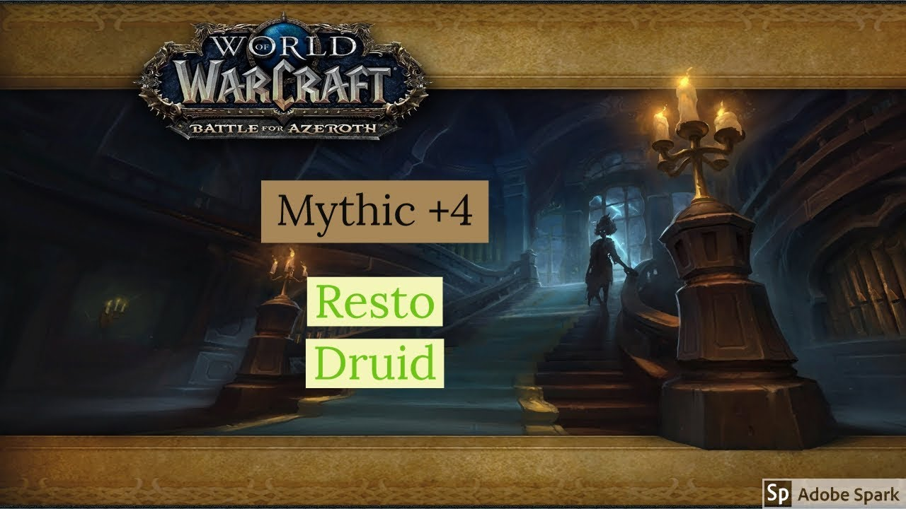 Bfa 801 Resto Druid Mythic 4 Waycrest Manor Wow Battle For