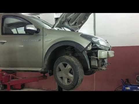 Renault SANDERO ( LOGAN ) - Замена радиатора кондиционера.