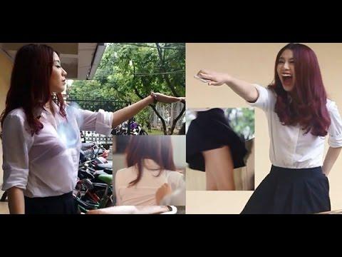 Linh Miu bất ngờ bị ném bóng nước và tốc váy, kéo áo chip trắng trợn
