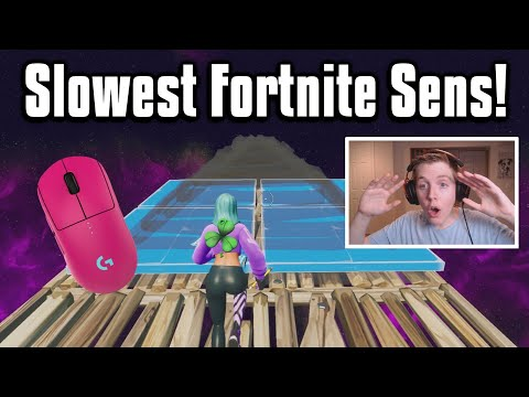 Reacting To The LOWEST Sensitivity Player In The World! - Fortnite Battle Royale