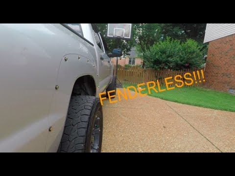 Taking Fender Flares Off A Tacoma Youtube