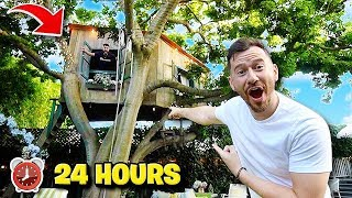 Gambar cover Living In A Tiny TREE HOUSE Overnight!! *The World's Craziest AirBnB's*