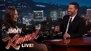 Repeat youtube video Gal Gadot Asks Jimmy Kimmel About Her Breasts