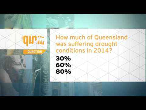 Quiz - How much of Queensland was suffering drought conditions in 2014?
