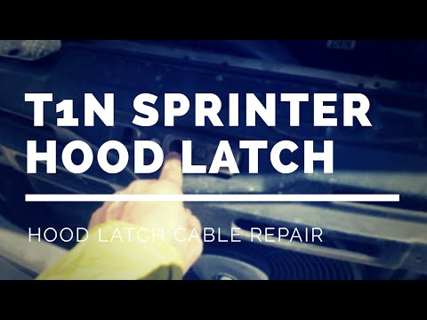 Ep. 16 ThatChillaxDude - Vanlife   T1N Sprinter Hood Latch Cable Repair