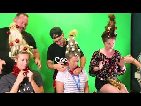 Kristina Kage - New Trend: 'Christmas Tree' hair HOT this Holiday Season