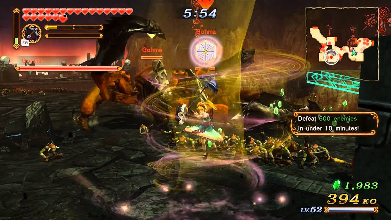 How to defeat gohma in hyrule warriors - Hyrule Warriors Adventure Mode Challenge D 6 Defeat 600 Enemies In 10 Minutes