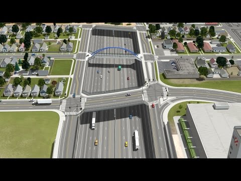 3D Animation of Proposed Overpass & Pedestrian Bridge at Interstate 70 by POITRA Visual