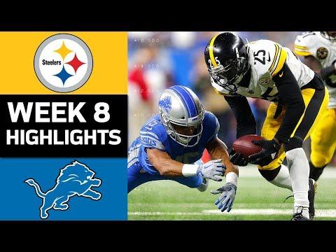 Steelers vs. Lions | NFL Week 8 Game Highlights