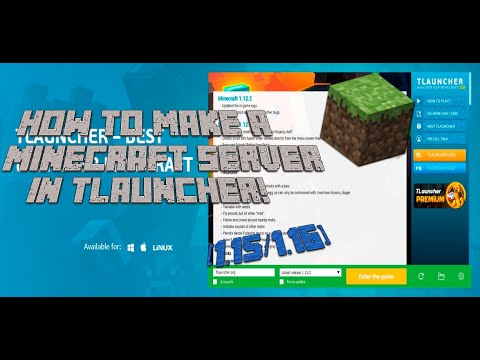 How to make your Minecraft Server 1 15/1 16 Tlauncher/Cracked