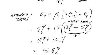 acca p4 the capital asset pricing model examples 4 6