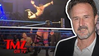 David Arquette Busts Crazy Moves At Wrestling Match | TMZ TV