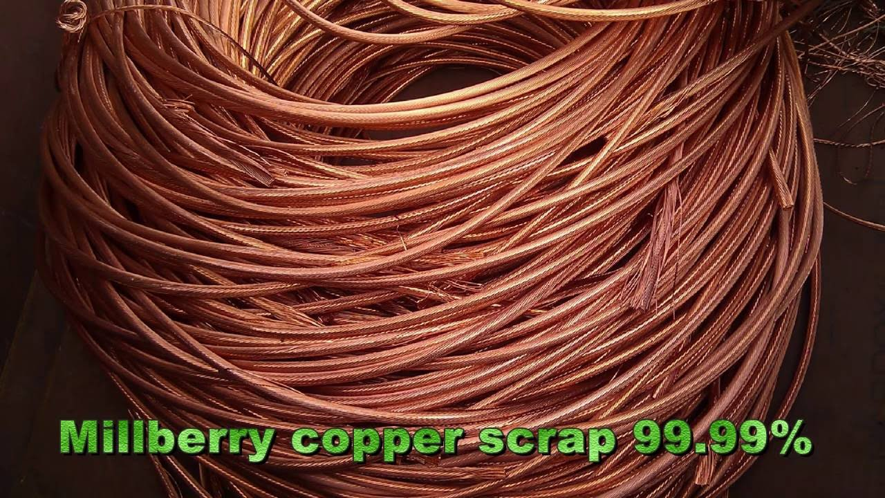 Millberry Copper Scrap 99 99  Purity For Sale