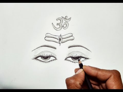 How to draw Realistic God Shiva Eyes for beginners step by