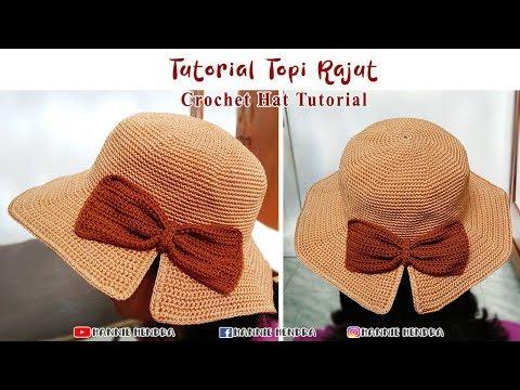 Crochet || Tutorial Topi Rajut - Crochet Hat [Subtitles Available]